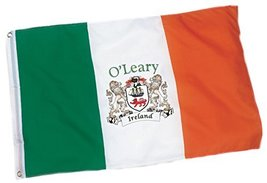 Irish Rose Gifts O'Leary Heavy Duty Outdoor Ireland Coat of Arms Flag - ... - $33.32