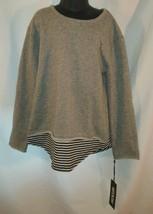 Jackson Girls Sweatshirt Gray w/ Stripe Detail Size Small NWT Cotton Blend - $2.99
