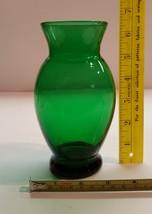 Vintage 1957-65 Anchor Hocking Forest Green Flared Vase - $11.99