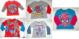 Marvel Spider-Man Toddler Boys Long Sleeve Various T-Shirts Sizes 2T 3T ... - $9.79