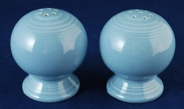 Homer Laughlin Fiesta Ware Periwinkle Blue Salt & Pepper Shakers Fiestaware - $9.99