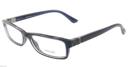 Prada Eyeglasses VPR 09O EAR-1O1 Blue Horn Rectangular Authentic 53mm - $101.85
