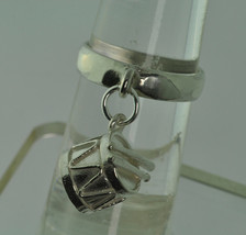 Genuine Sterling Silver .925 Dangle Ring Drum sticks Drummer Jewelry Pic... - $22.50