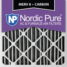 Nordic Pure 20x20x4 (3 5/8) Pleated Plus Carbon Air Filters MERV 8 2 Pack - $44.64