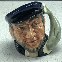 ROYAL DOULTON TOBY MUG cup bust figurine 1958 England D6506 Capt Ahab Mo... - $64.35