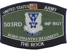 "4.375"" Army 503RD Airborne Infantry The Rock Embroidered Patch - $23.74"