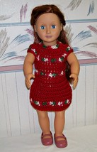 American Girl Crochet Red Dress, Handmade, 18 Inch Doll - $22.00