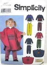 Simplicity Sewing Pattern 5807 Toddler's Jumpsuit, Pants, Jacket, Pullover, Top  - $10.28