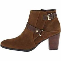 Marc Fisher Brown Ella Suede Leather Ankle Boots WOMEN SIZE 9.5M - $38.00