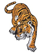 Large Tiger Embroidered Iron-On Patch - 6 3/4 x 13 1/2 inch Shipped from... - $14.80