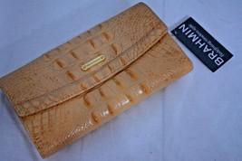 NWT - Brahmin Soft Checkbook Wallet in Dolce Melbourne Pale Orange Color Leather - $129.00