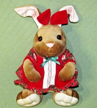 "15"" VINTAGE VELVETEEN RABBIT 1995 Plush Animal COMMONWEALTH GIRL Red Vel... - $16.83"