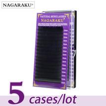 NAGARAKU 5 cases/lot High quality mink eyelash extension individual eyel... - €23,67 EUR