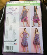 SIMPLICITY 1164 Double Layer Wrap Skirts Variations Womans Size 6 - 24 U... - $13.09