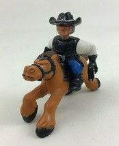 Western Great Adventures Gunslinger Cowboy and Horse Fisher Price Vintag... - $10.84