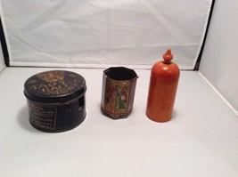 Set of Three Antique Tea Containers Asia Tea Brands