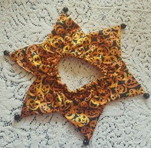 Dog Scrunchie Size M/L Pumpkins design orange - $5.18