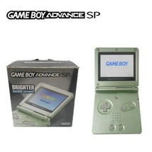 Nintendo GameBoy Advance GBA SP AGS 101 Brighter Green Original Box Game... - $217.80