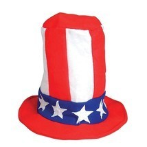 Patriotic Felt Pipe Hat Tall American Flag Lincoln 4th of July Cap Whole... - ₹3,186.64 INR+