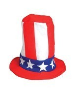 Patriotic Felt Pipe Hat Tall American Flag Lincoln 4th of July Cap Whole... - ₨3,275.51 INR+