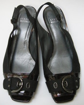 Stuart Weitzman Shoes Peep Toe Slingback Cloth Buckle Womens Size 7.5 W - $68.78