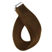 RUNATURE Tape In Real Human Hair Extensions 14 Inches Color 4 Human Hair Tape In image 3