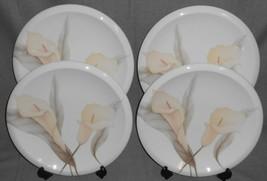Set (4) Mikasa NEW SPIRIT PATTERN Porcelain Plus DINNER PLATES Made in J... - $39.59