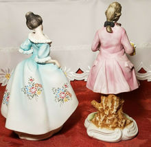 Vintage Lefton China Pair of Colonial Man & Woman Figurines KW7225 image 7