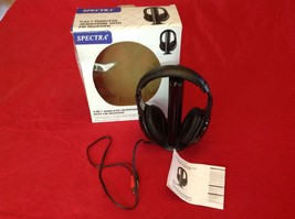 Spectra 5-In-1 Wireless Headphone With FM Receiver WH-500 w/ Box and Manual - $12.82
