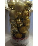"""Mixed Lot of 30 shatterproof Gold  Christmas Ornaments aprox. 2.5"""" - $9.00"""
