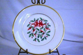 "Lenox Holiday Red Ribbon Accent Salad Plate 8"" - $11.08"
