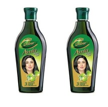 Dabur Amla Hair Oil, 275 ml (pack 2) free shipping world - $30.10