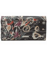 """NWT Sakroots Trifold Wallet Slate Songbird New Coated 7.5"""" x 4"""" New SHP ... - $52.00"""