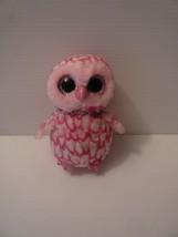 "Ty Beanie Boos 6"" Pinky Plush Stuffed Owl Retired 2015 - $5.94"