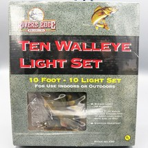 Walleye 10 Camper Light Set String River's Edge Fish Fishing Christmas P... - $28.19
