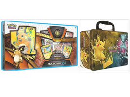 Pokemon TCG Shining Legends Raichu GX Collection Box and Collectors Ches... - $79.99
