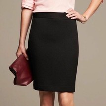 Banana Republic Black Chevron Textured Fully Lined Pencil Skirt Size 10 - $24.49