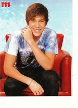 Austin Mahone teen magazine pinup clipping why don't we red chair Popstar - $2.00