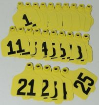 Destron Fearing DuFlex Visual ID Livestock Panel Tags Yellow 25 Sets 1 to 25 image 4