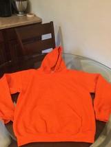 NWOT Men's Gildan Orange Blank Hoodie Sweatshirt Medium New Without Tags - $24.74