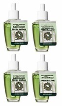 Bath and Body Works 4 Pack Fresh Balsam Wallflowers Fragrances Refill. 0... - $43.76