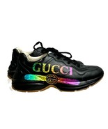 Gucci Men's Rhyton Rainbow Logo Leather Sneakers Trainers 9.5 Gucci 10.5 US - $579.59
