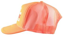 Boobies Rule!!! Nice Guns Boobs Neon Orange White Trucker Snapback Hat Cap NWT image 5