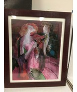 LINDA LE KINFF ROBE DU SOIR SERIGRAPH IN COLOR ON CANVAS - $296.99