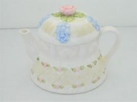 Teapot – OCI Omnibus/Fitz And Floyd – Wedding Cake Series Pattern – 24 oz - $32.50