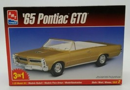 AMT ERTL 1965 65 Pontiac GTO Convertible 3 in 1 Model Kit 1:25 Scale Skill 2 New - $24.63
