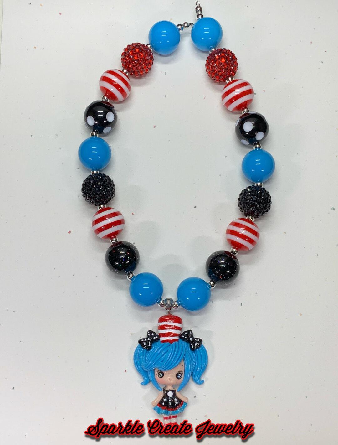 Dr. Seuss Girl Clay Chunky Bubblegum Necklace