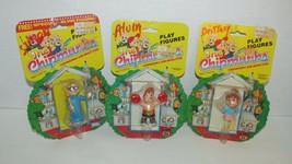 Lot 3 vintage Alvin The Chipmunks figures Simon Brittany on card boxing baseball - $35.63