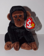 Ty Beanie Baby Congo Plush 6in Gorilla Stuffed Animal Retired with Tag 1996 - $3.99