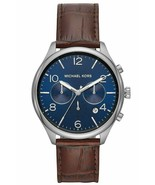 Michael Kors MK8636 Classic 48MM Men's Chronograph Brown Leather Watch - $119.98